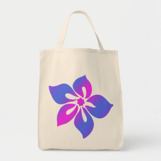 Happy Hibiscus Grocery Tote Bag