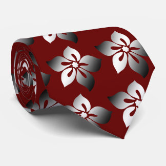 Happy Hibiscus Hawaiian Two-sided Printed Tie