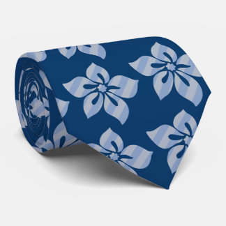 Happy Hibiscus Stripe Hawaiian Two-sided Printed Neck Tie