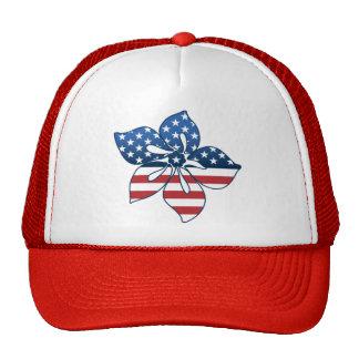 Happy Hibiscus USA Trucker Hat