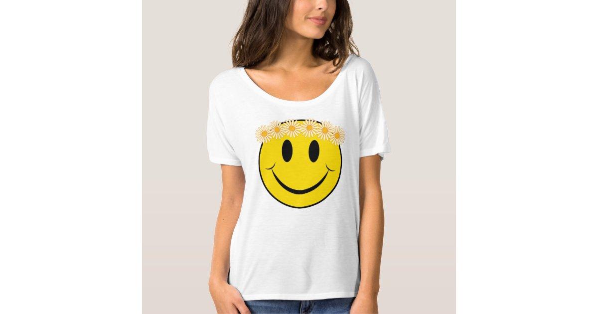 happy hippie daisy face t shirt zazzle. Black Bedroom Furniture Sets. Home Design Ideas