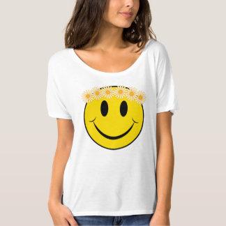 Happy Hippie Daisy Face Tee Shirt