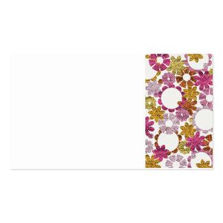 HAPPY HIPPIE FLOWERS PATTERN BACKGROUNDS WALLPAPER BUSINESS CARD
