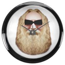 HAPPY HIPPIE WALL CLOCK AQUARIUM CLOCK