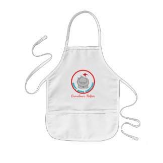 Happy Hippo Christmas: Personalized Holiday Kids' Apron