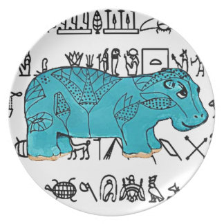 Happy Hippo Dinner Plate