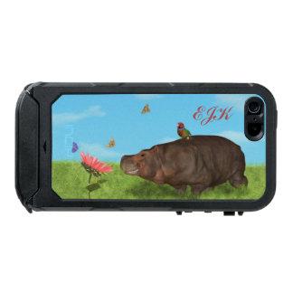 Happy Hippo, Flower, Butterflies, Monogram Incipio ATLAS ID™ iPhone 5 Case