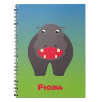 Happy hippo notebook