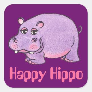 Happy Hippo - Sticker