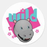 Happy Hippo Stickers