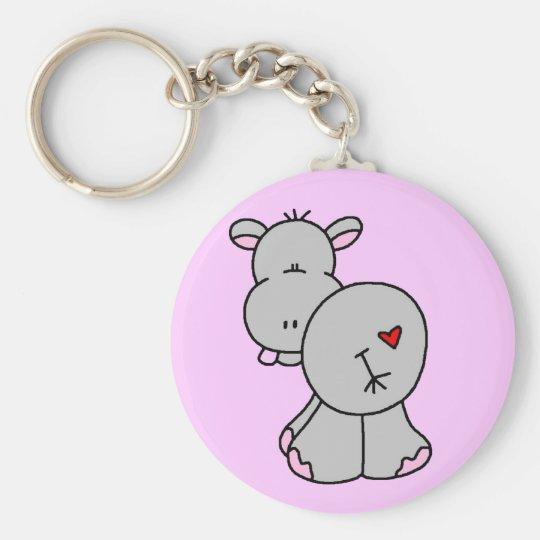 Happy Hippo Tshirts and Gifts Keychain