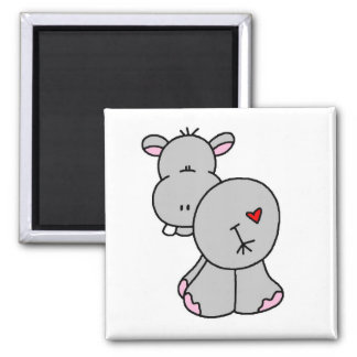 Happy Hippo Tshirts and Gifts Refrigerator Magnets