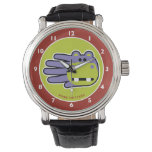 Hand shaped Happy Hippo Wrist Watches