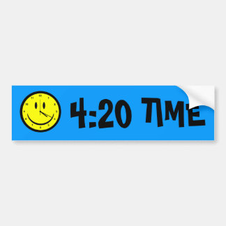 Happy Hippy face clock Bumper Sticker