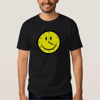 Happy Hippy face clock Shirt