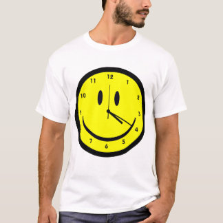 Happy Hippy face clock T-Shirt