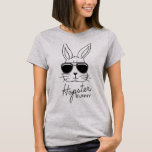 Happy Hipster Easter Cute Funny Women's Basic Tee