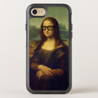 Happy Hipster Mona Lisa - Leonardo da Vinci OtterBox Symmetry iPhone 7 Case