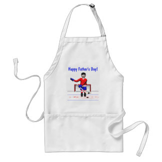 Happy Hockey Fathers Day Adult Apron