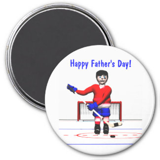 Happy Hockey Father's Day Magnet