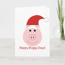 Happy Hoggy Days Christmas cards