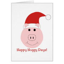 Happy Hoggy Days Christmas cards
