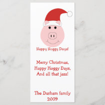 Happy Hoggy Days Christmas Cards and stationary.