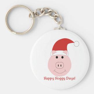 Happy Hoggy Days Christmas keychain