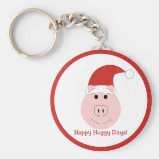 Happy Hoggy Days Christmas keychain border