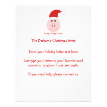Happy Hoggy Days Christmas letters Flyer
