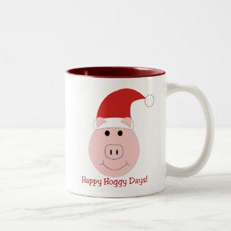 Happy Hoggy Days Christmas mugs
