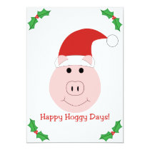 Happy Hoggy Days Christmas party invitation