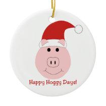 Happy Hoggy Days Christmas tree ornaments