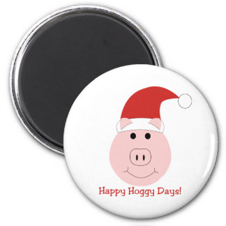 Happy Hoggy Days Holiday magnet