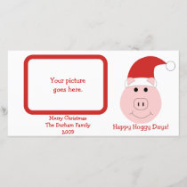 Happy Hoggy Days Photo Christmas Cards