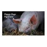 Happy Hogs pig farm business card