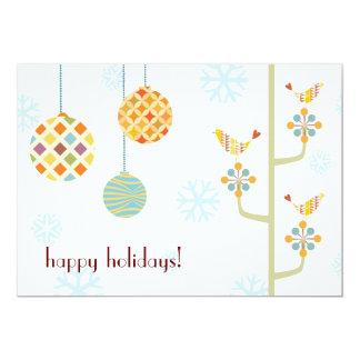 Happy Hoiday Love Birds Flat Holiday Card