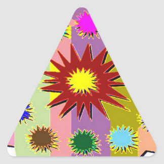 Happy Holi 2 Triangle Sticker