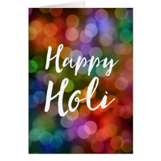 Happy Holi Bokeh Card