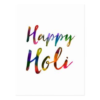 Happy Holi Bokeh Lights Postcard
