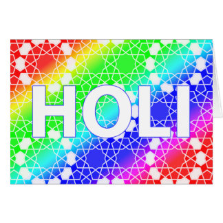 happy holi : festival of color and spring card