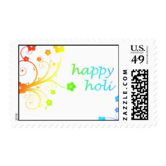 happy holi : festival of color and spring postage