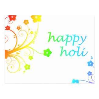 happy holi : festival of color and spring postcard