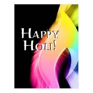 happy holi (light of color) postcard