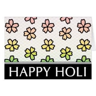 happy holi spring festival card