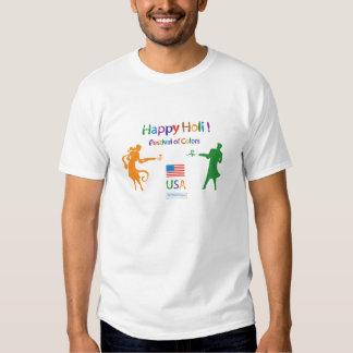 Happy Holi USA T Shirt