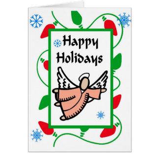 Happy Holiday Angel Greeting Card
