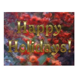 Happy Holiday Berries Postcard