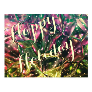 Happy Holiday-Brilliant Colorful Crystal Postcards