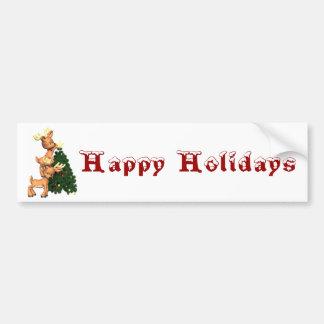Happy Holiday Bumper Sticker Car Bumper Sticker